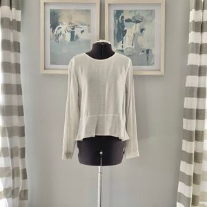 Anthropologie | Cloth & Stone Peplum Top NWOT